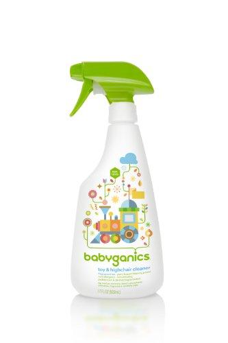 BabyGanics Toy & Chaise haute Cleaner, bouteilles de 17 onces-fluides (Pack de 2), emballages peuvent différer