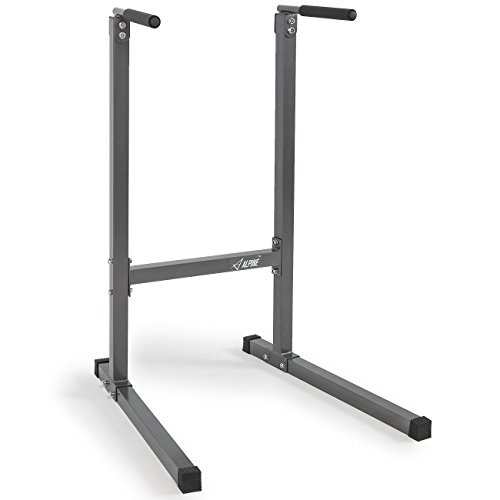 Akonza Heavy Duty Dip Stand Dip Station Tower Triceps Home Workout Gym -Gray by Akonza