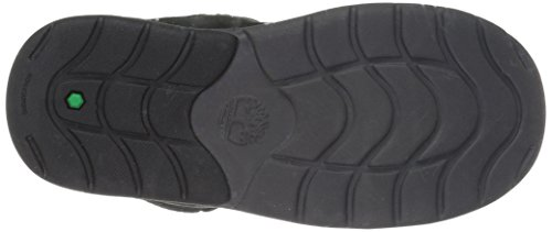 Timberland Unisex Toddle Tracks Warm Fabric Leather Bootie Snow Boot Black Nubuck 12 M US Little Kid by Timberland (Image #3)
