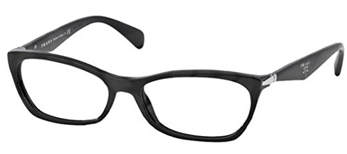 Prada PR15PV Eyeglass Frames 1AB1O1-53 - Black - Glasses Women Prada