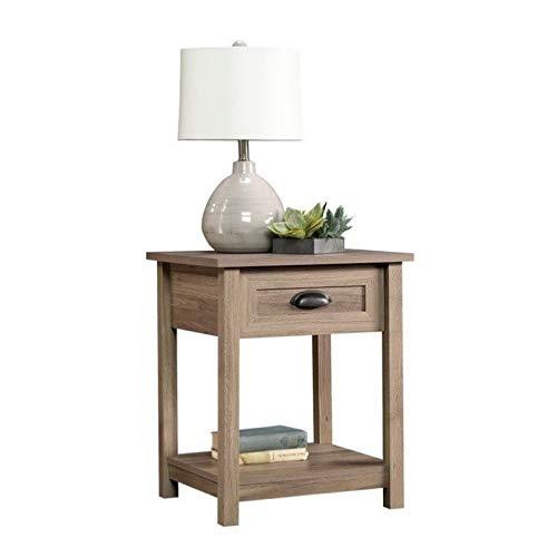 Sauder County Line Side Table/Night Stand, Salt Oak Finish (Furniture Collections Bedroom Lane)