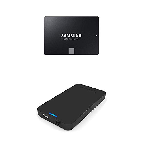Samsung 860 EVO 1TB 2.5 Inch SATA III Internal SSD (MZ-76E1T0B/AM) with Sabrent 2.5-Inch SATA to USB 3.0 Tool-free External Hard Drive Enclosure