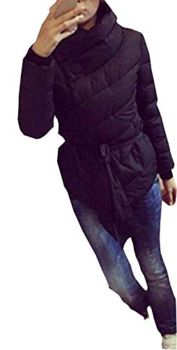 Coat Revers Blouson Schwarz Baumwoll Femme Loisir Warm Mode Automne Jacket Huixin Longues Styles Manches Mince Parka Young Manteau Hiver Transition fPOYqB