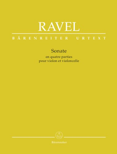 Ravel, Maurice - Sonata in Four Parts for Violin and Violoncello by Barenreiter (Ravel Sonata For Violin And Cello Sheet Music)