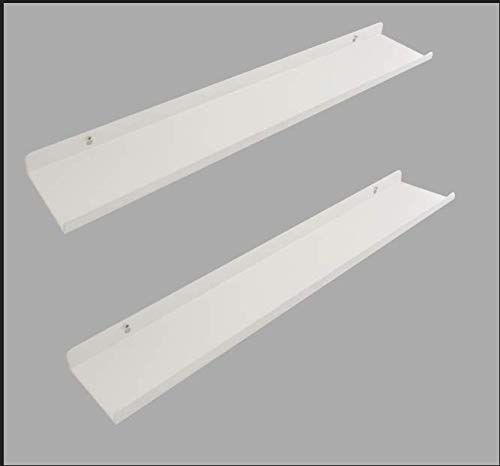 Licotom Metal Wall Mount Floating Shelves Display Ledges Set of 2PCS, 24