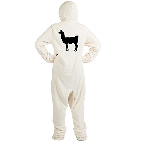 CafePress - Llama Silhouette - Novelty Footed Pajamas, Funny Adult One-Piece PJ Sleepwear (Bunny Onesies For Adults)