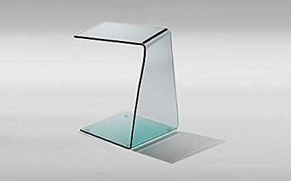 Qriosa Stile Italiano Mod. Xeno - tavolino servetto in vetro curvato ...