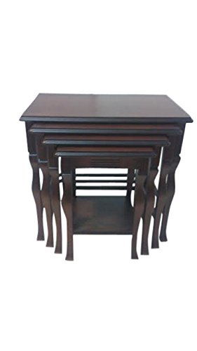 Amazon.com: Q700 Walnut Nesting Side Table, Set of 4: Kitchen & Dining