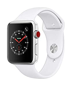 Apple Watch Series 3 (GPS + Cellular, 42mm) - Silver Aluminium Case with White Sport Band