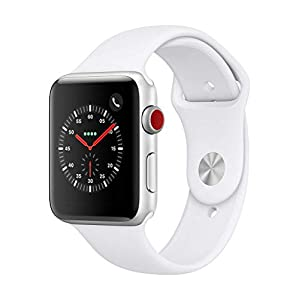 Apple Watch Series 3 (GPS + Cellular, 42mm) – Silver Aluminium Case with White Sport Band
