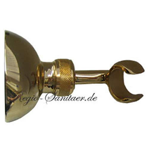 Adjustable Shower Bracket Surface 24 Carat gold for Wall Mounting for Shower Heads Hand Showers or for Mounting a Shower Hose