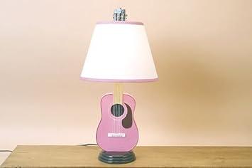 Amazon acoustic guitar lamp pink wcoordinating shade music acoustic guitar lamp pink wcoordinating shade music novelty aloadofball Gallery