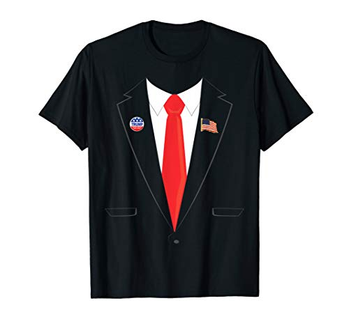 Tuxedo Suit Presidents day shirt Trump Pin Costume T-shirt]()