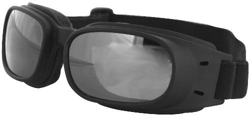 Bobster Eyewear Reflective Piston Goggles , Distinct Name: Black/Smoke Lens, Gender: Mens/Unisex, Primary Color: Black (Smoke Reflective Lens)