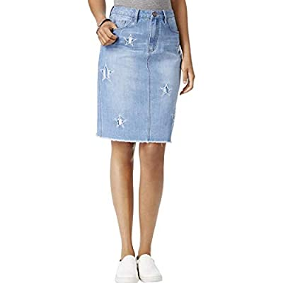 Buffalo David Bitton Womens Ivy Embroidered High Rise Denim Skirt