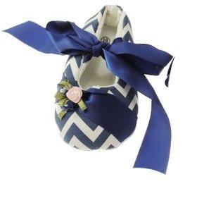 Bañador para bebé azul brillante Pre Walker Zapatos azul efecto sedoso cinta y Zig Zag azul oscuro