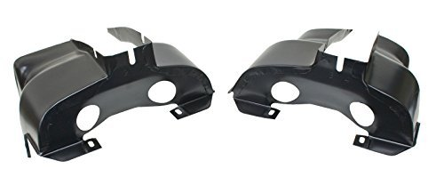 EMPI 16-9501 Off-Road Dual Port Shrouds, Trimmed, Black, Pair, VW Bug, Baja, Volkswagen, Sand Rail, Sand Buggy (Baja Volkswagen Bug)