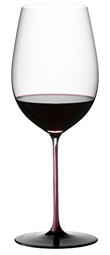 Riedel Sommeliers Black Series Bordeaux Grand Cru Glass, Red/Black Sommeliers Single