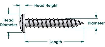 BCP58 BCP Fasteners 100 Qty #8 x 5//8 Zinc Pan Head Phillips TEK Self Drilling Sheet Metal Screws
