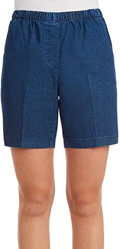 Alia Denim Jeans - Alia Petite Denim Pull-On Shorts 12P Med wash Blue
