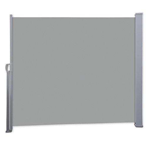 Nemaxx SCA140 Seitenmarkise 140x300 cm - idealer Windschutz Sonnenschutz Sichtschutz - Markise grau - nach DIN EN13561