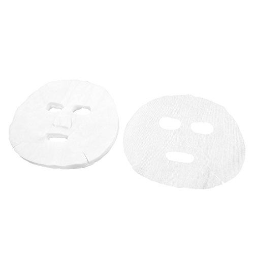 TOOGOO(R) Women 50 Pcs White Makeup Enlarged Cotton Facial Mask Sheet