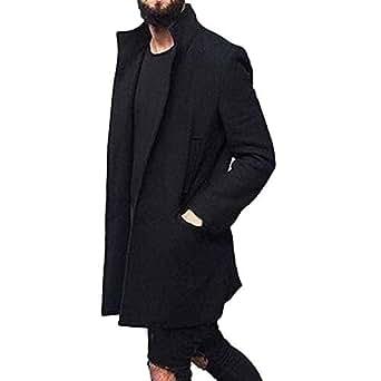 Longra abrigo de Traje de Invierno para Hombre, Chaqueta de Abrigo Ajustada y Slim fit Ropa Interior Larga
