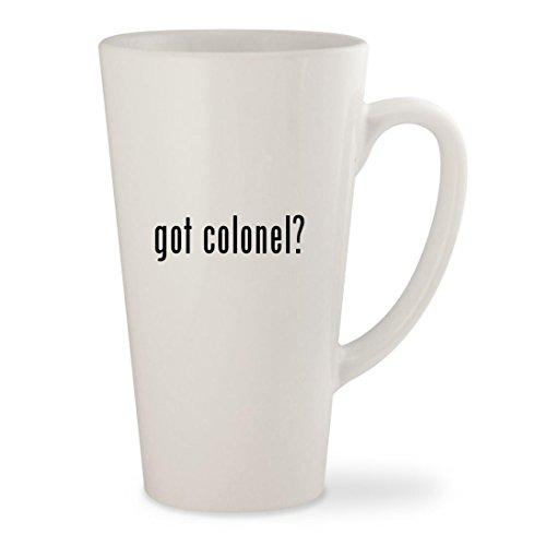 got colonel? - White 17oz Ceramic Latte Mug (Miss Meow Costume)