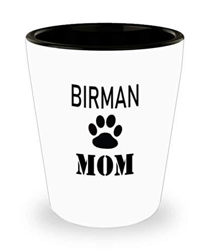 White Ceramic Shot Glass Gift For Birman Owner Personalize Cat Mug Custom Pet Mug Cat Mom Mug For Cat Lovers,al2236]()