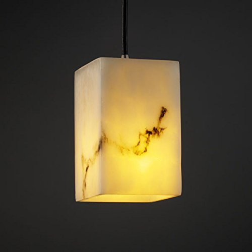 Justice Design FAL-8816-15-NCKL, LumenAria Mini Square Pendant, 1 Light, 40 Watts, Nickel ()