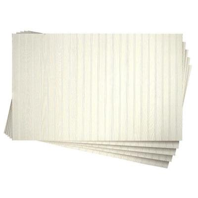 3/16 in. x 32 in. x 48 in. DPI Pinetex White Wainscot Panel - Panel Beadboard