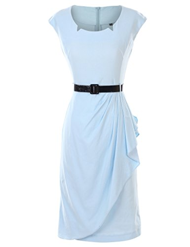 GownTown-1950S-Classical-Slim-Cap-Sleeve-Evening-Dress-Stretchy-Dresses