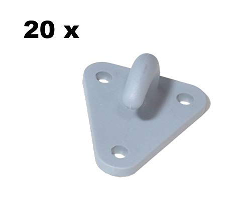 Dreiloch FKAnh/ängerteile 20 St/ück Netzhaken Planenhaken Kunststoff