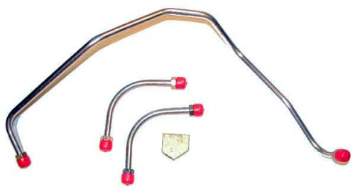 4 Piece With Dual Feed Holley The Right Stuff FPC69ZZ Fuel Pump to Carburetor Line