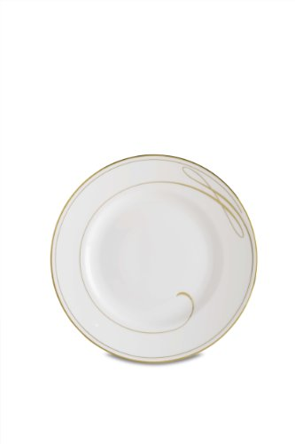 Accent Plate Ballet Waterford Ribbon - Waterford Ballet Ribbon Gold Champagne Salad/Dessert Plate, 8-Inch