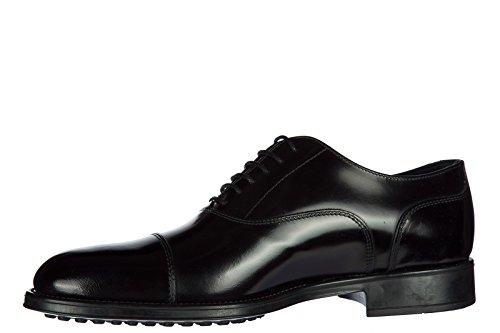 Tods Chaussures à Lacets Classiques Homme en Cuir Oxford Francesina Noir