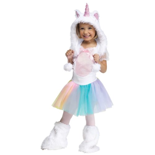 Fun World Costumes Baby Girl's Unicorn Toddler Costume, White, Small(24MOS-2T)