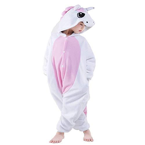 Kids Unicorn Onesie Pajamas Christmas Halloween Cosplay Costume (Pink Unicorn,8-Height 51-54
