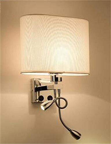 WHKHY Led Moderno Aleación Minimalista, Personalidad de la Creatividad con Interruptores Lámpara de Pared Cama Salón La...