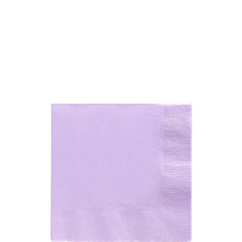 (Lavender Big Party Pack Beverage Napkins | Pack of 125 | Party Supply)