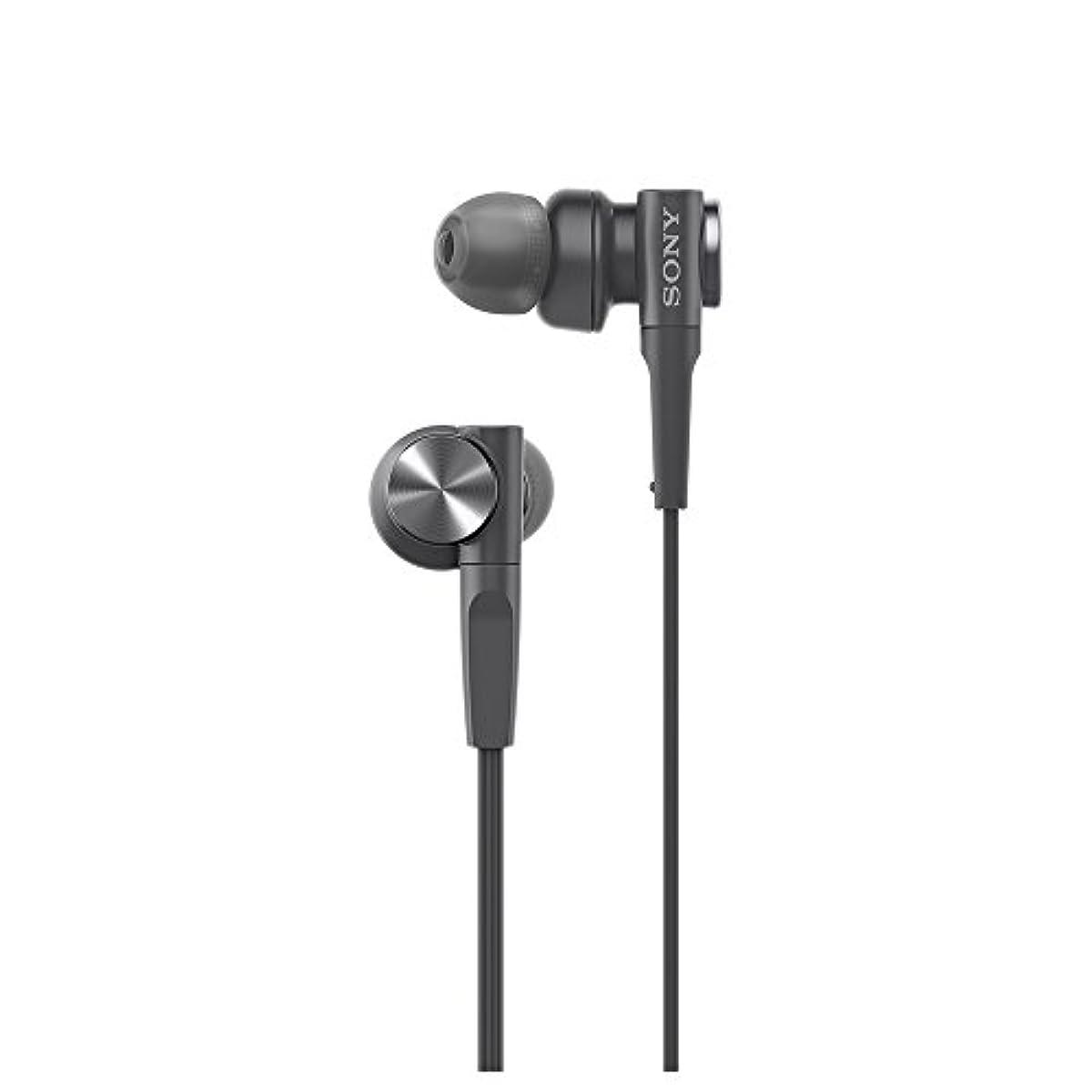 [해외] 소니 SONY 이어폰 중저음 모델 MDR-XB55 : 가나루형 블랙 MDR-XB55 B