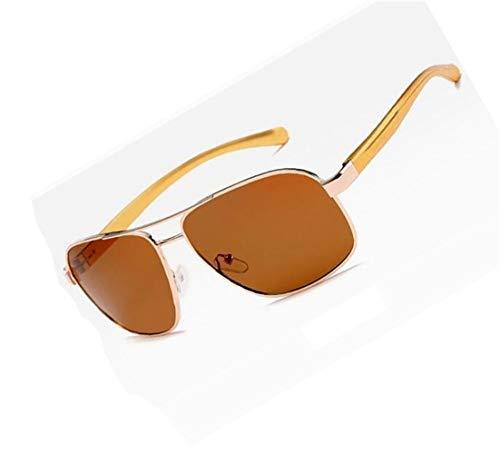 Cool Huyizhi de Lunettes Conduite lunettes Hommes Golden soleil UV400 Lumière de voyager Soleil Polarisée Lunettes Mode Pêche Marron Golden Protection la de dCrCaw