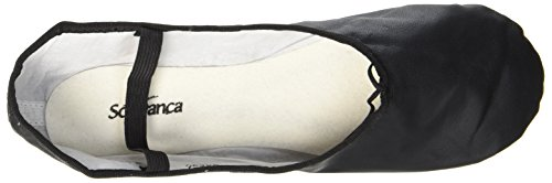 En De Cuir black Complet Ballet Chaussures Bae90 Semelle Noir tFw4px5q
