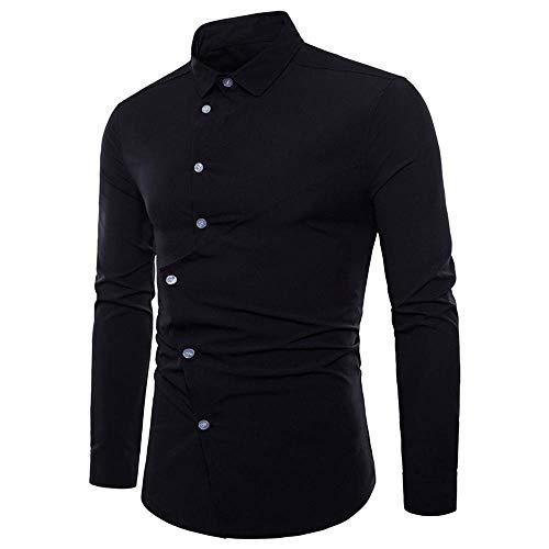 A Autunno V Da Uomo Irregolare Camicia Nero Maglieria Uomo Fit Lunga Casual Styledresser Slim Manica pullover fBXwX6
