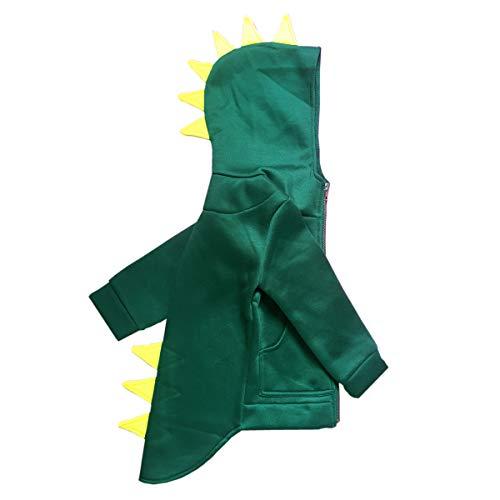 - Baby Boy Animal Dinosaur Fleece Zip Front Hoodie High-Low Hem Kids Sweatshirt (Green, 90 (2T))