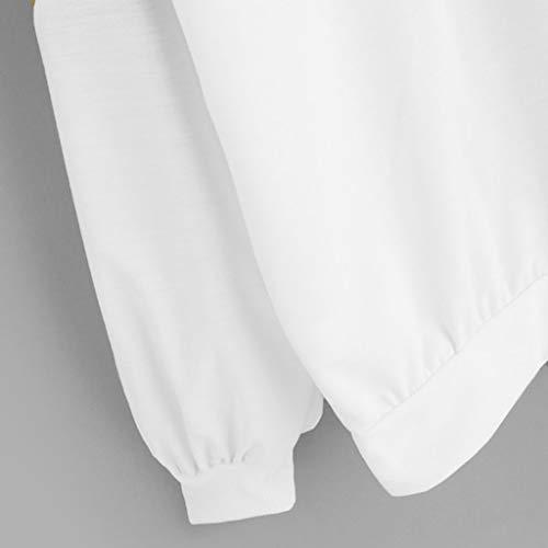 Cortos Mujer Abrigo Sudadera moda Otoño Vpass Leopardo Mujer Jersey Redondo Por Tumblr Patchwork Larga Suéter Invierno Primavera Cuello Para Deportiva Blanco Sudaderas Tops Casual Blusa Manga 155Zzq