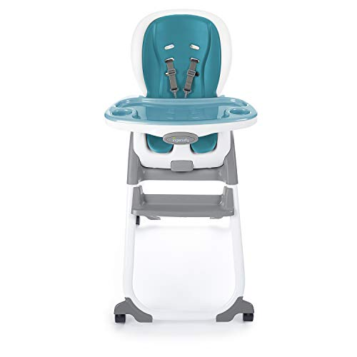Ingenuity SmartClean Trio Elite 3-in-1 High Chair - Peacock Blue - High Chair, Toddler Chair, and Booster