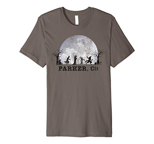 Halloween Parker Co (Vintage Halloween Full Moon in Parker CO Retro Premium)