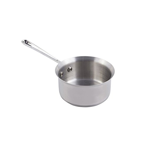 Bon Chef 60009 Stainless Steel Induction Bottom Cucina Butter Warmer, 1/2 quart Capacity, 9-19/32'' Diameter x 2-19/64'' Height by Bon Chef (Image #1)