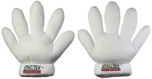 Sonic The Hedgehog Gloves (GE Animation Great Eastern GE 8805 Sonic The Hedgehog Stuffed Plush Gloves, 11